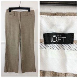 Ann Taylor LOFT Light Brown Marisa Trouser Pants